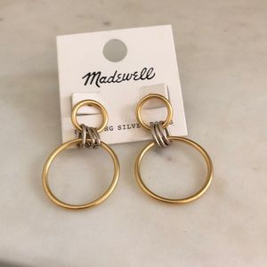 Madewell gold and silver hoops